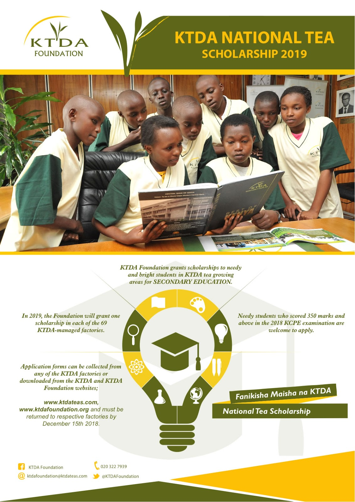 2019 Ktda Foundation Scholarship Application Unilada Kenya
