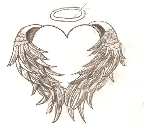 7 hearts with wings coloring pages for kids disney for Coloring pages wings