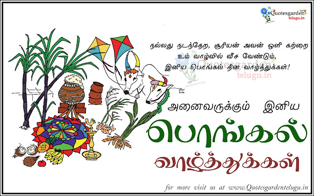 Happy Pongal 2017 Tamil Greetings Quotes messages