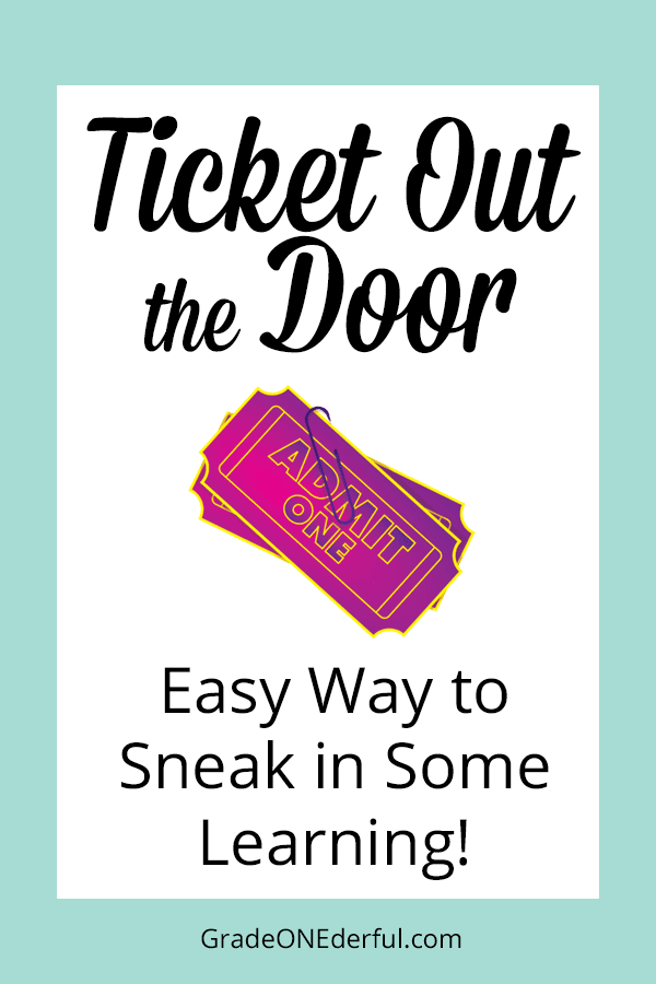 Ticket Out the Door is a great game for daily review of facts. It's quick and easy and the kids love it! GradeONEderful.com
