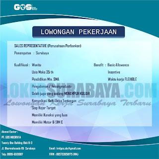 Lowongan Kerja Surabaya di PT. GOS INDORAYA Oktober 2018