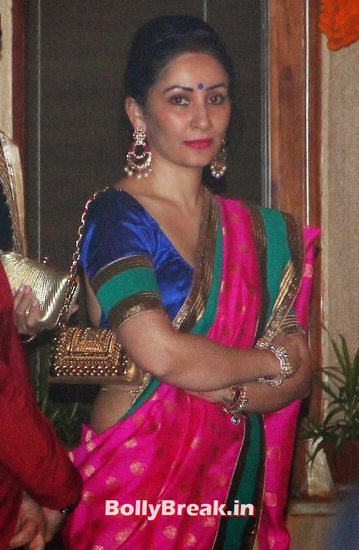 Manyata Dutt, Photos from Amitabh Bachchan's Diwali Bash 2014