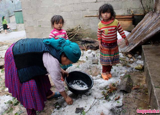 Mưa đá kèm gió lốc gây thiệt hại tài sản của Nhà nước và nhân dân huyện Mèo Vạc