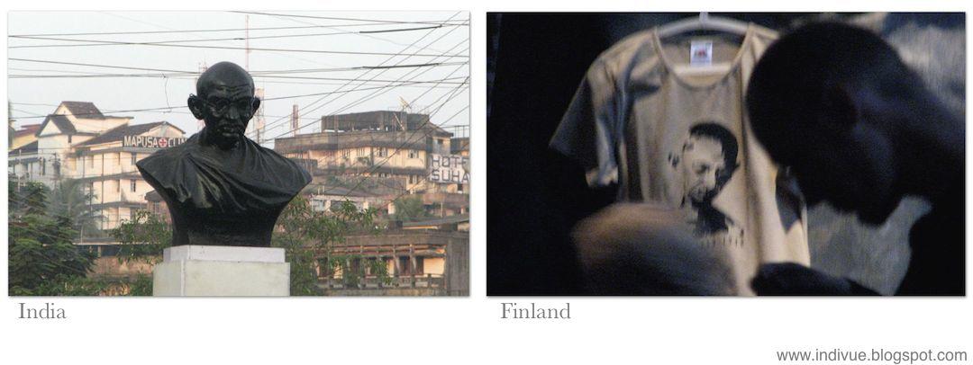 Gandhia Intiassa ja Suomessa