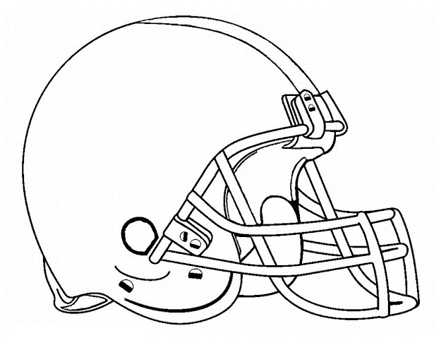 Blank Football Helmet Coloring Pages