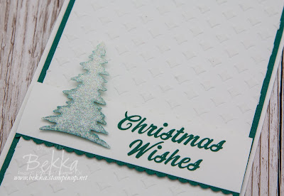 Crisp White Christmas Card made using products from Stampin' Up! UK which you can buy here