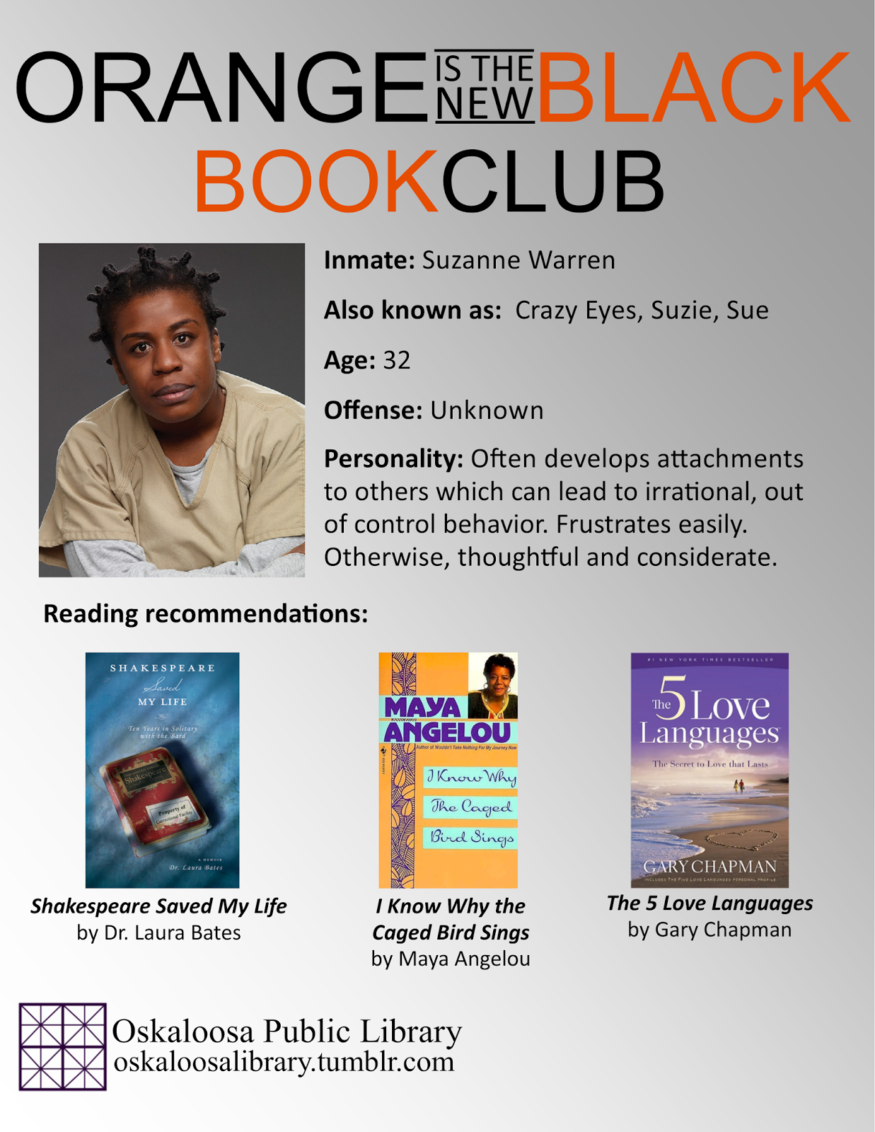 The Reader's Window: Orange is the New Black Book Club