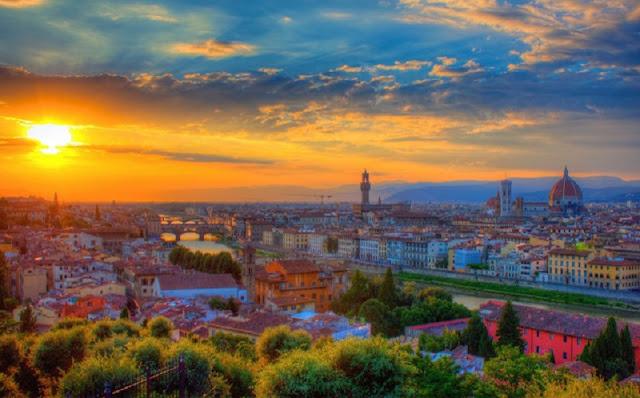 Vista panorâmica da cidade de Florença