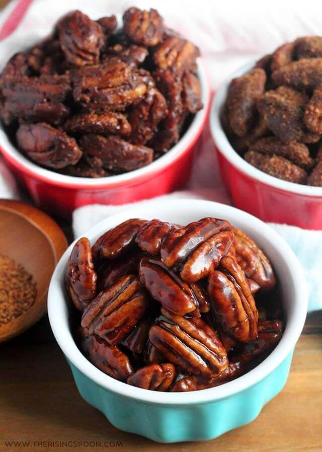 Stovetop Candied Pecans with Maple Syrup (Quick & Easy Recipe)