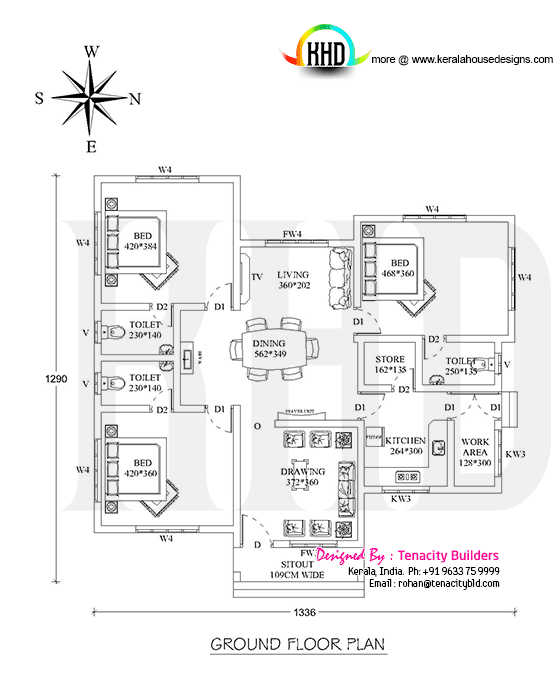 Floor plan of home