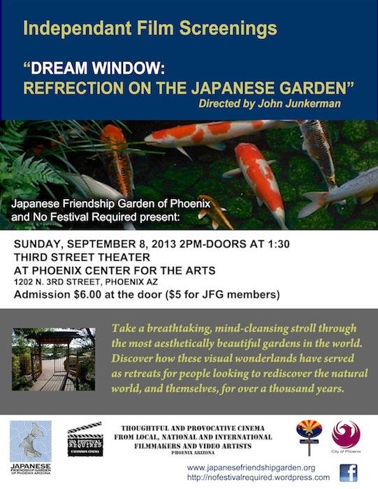 Japanese Friendship Garden Of Phoenix: Screening Of 'Dream