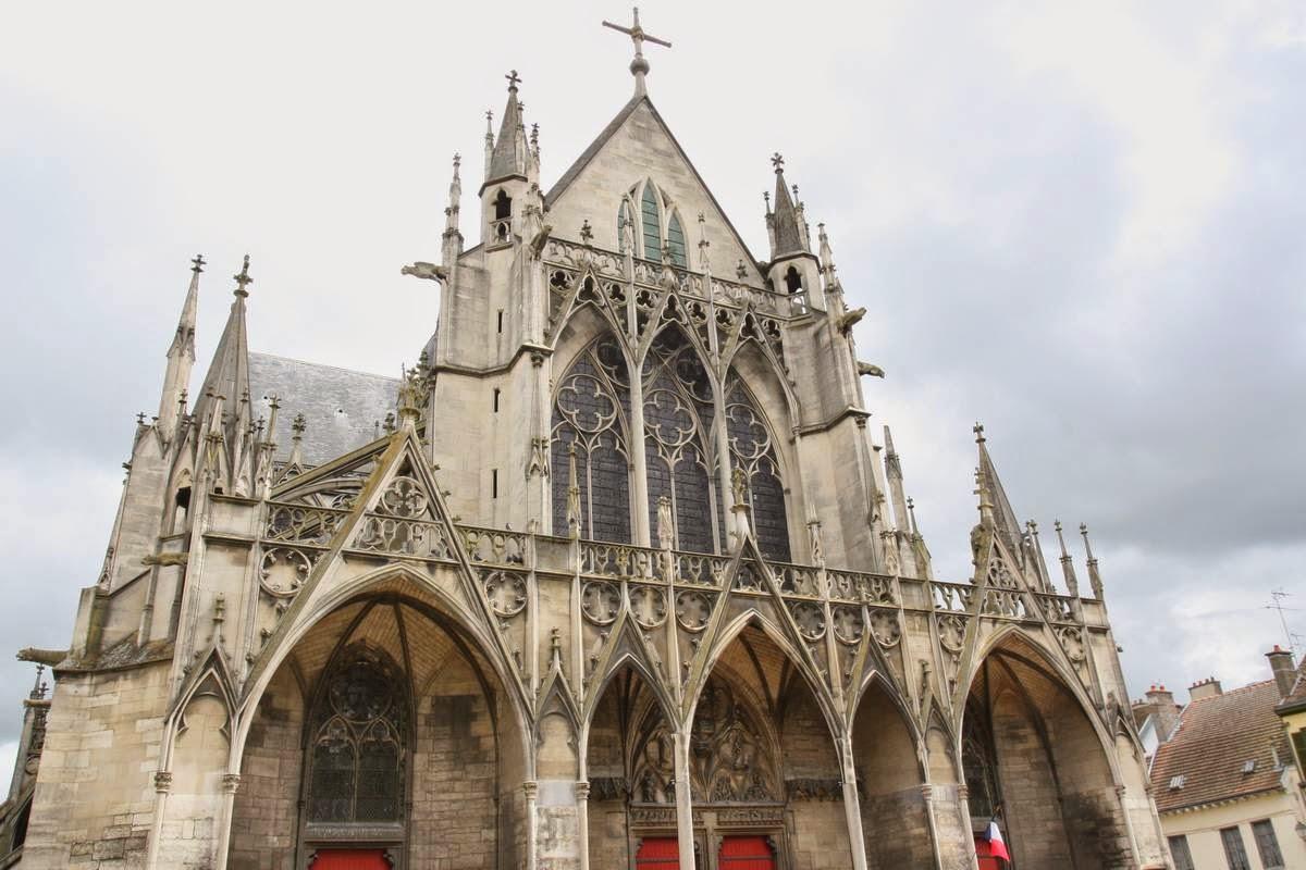 De basiliek van Saint-Urbain in Troyes, Frankrijk
