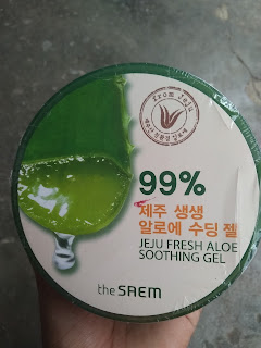 Kemasan depan the Saem Aloe Vera gel