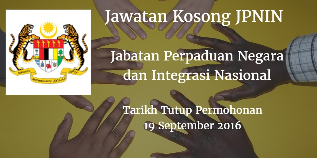 Jawatan Kosong JPNIN 19 September 2016