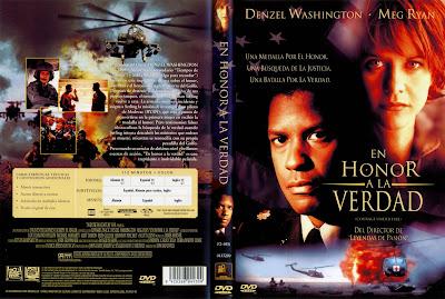 En honor a la verdad   1996   Courage Under Fire   Cover, Caratula, Dvd
