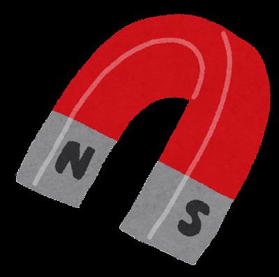 U字の磁石のイラスト