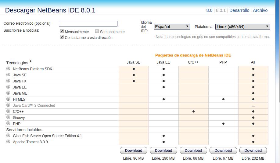 descargar netbeans 8.1 en español gratis