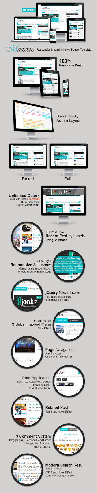 Maxxiz - Responsive Blogger Template Free download