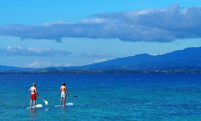 Stand up paddeling, Fiji Island