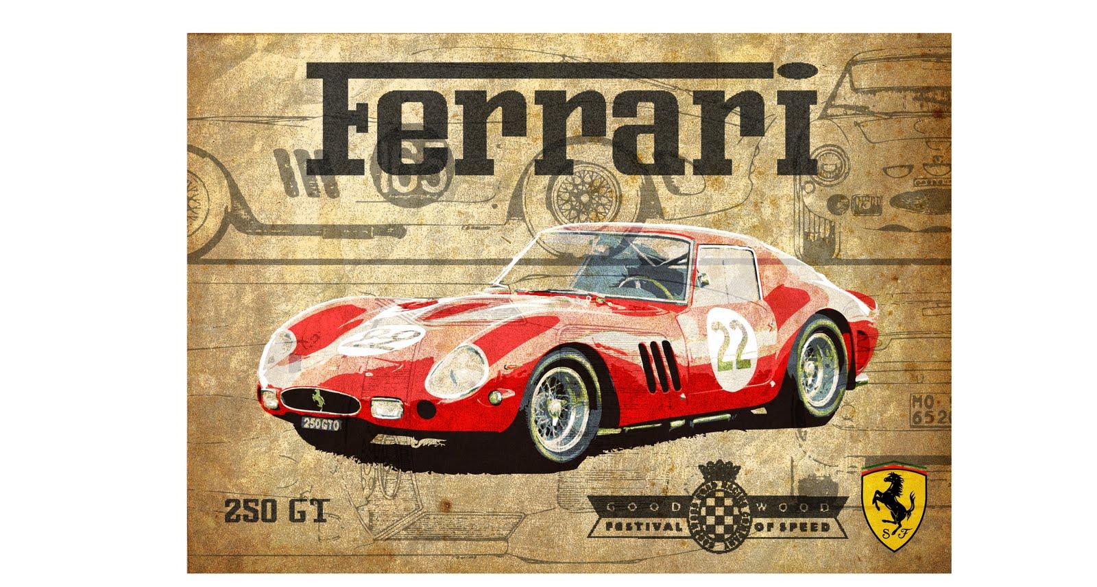 Alex Boys Vintage Ferrari Poster