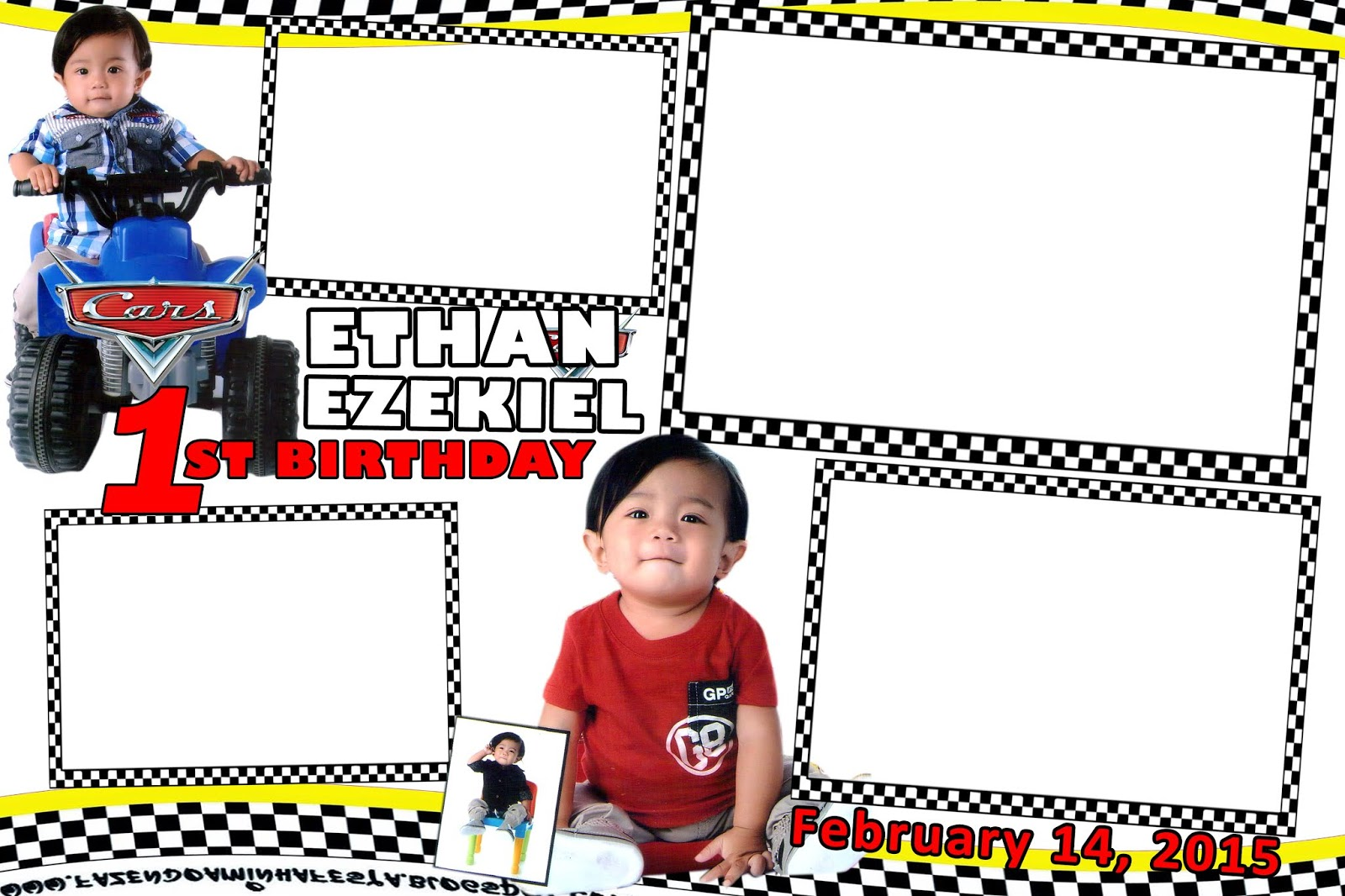 A Very Simple Disney Cars Photobooth Template Get Layout