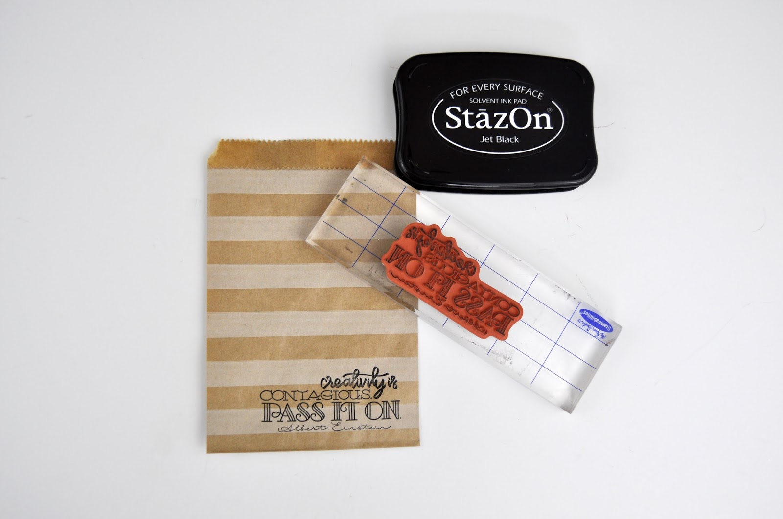 Spellbinders Dies and Stamps: Creativity Gift Bag by Jen Gallacher for www.jengallacher.com. #diecutting #stamping