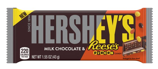 New Hersheys Milk Chocolate Bar With Reeses Pieces -4945