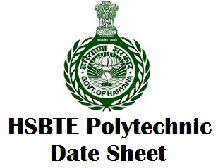 Haryana Polytechnic Exam Date Sheet Nov Dec 2017