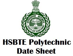 Haryana Polytechnic Exam Date Sheet Nov Dec 2017