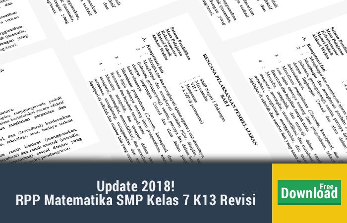 rpp matematika smp kelas 7 kurikulum 2013 revisi 2017 doc