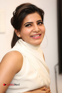 Samantha Latest Picture Gallery in White Stylish Dress at A Aa Movie Interview ~ Celebs Next