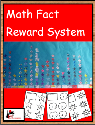 Free math fact reward system that allows students to color and add symbols to a graph in order to celebrate their success. - free download from Raki's Rad Resources.