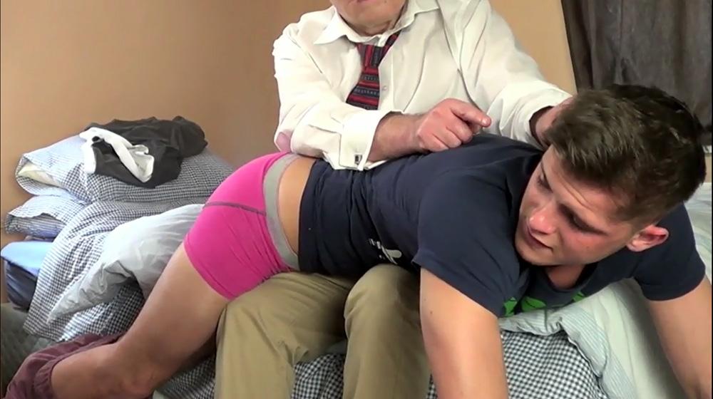 Bad boy get punished by spanking 3
