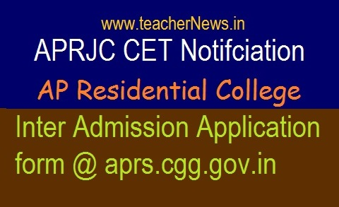 APRDC CET 2019 Notification | AP Residential Degree 1st year Admission Online Application form
