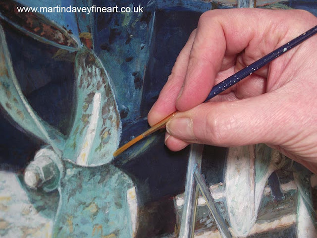 acrylic painting in progress artist marine