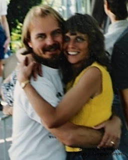 Picture showing Jimmy and Cindy embracing each other in 1997