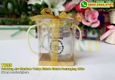 Drinking Jar Medium Tutup Kotak Kotak Packaging Mika