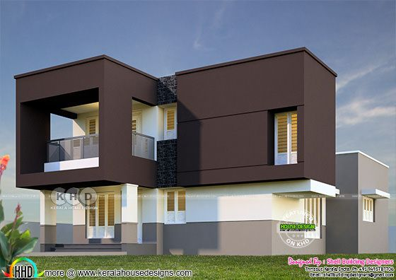 1716 square feet box model modern home