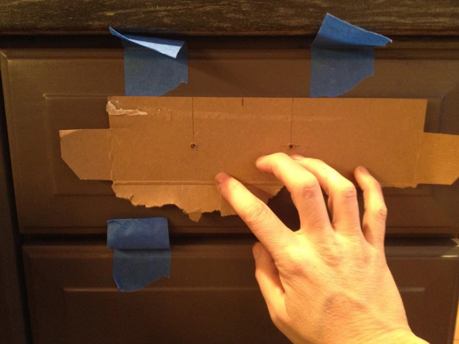 drawer pull installation jig