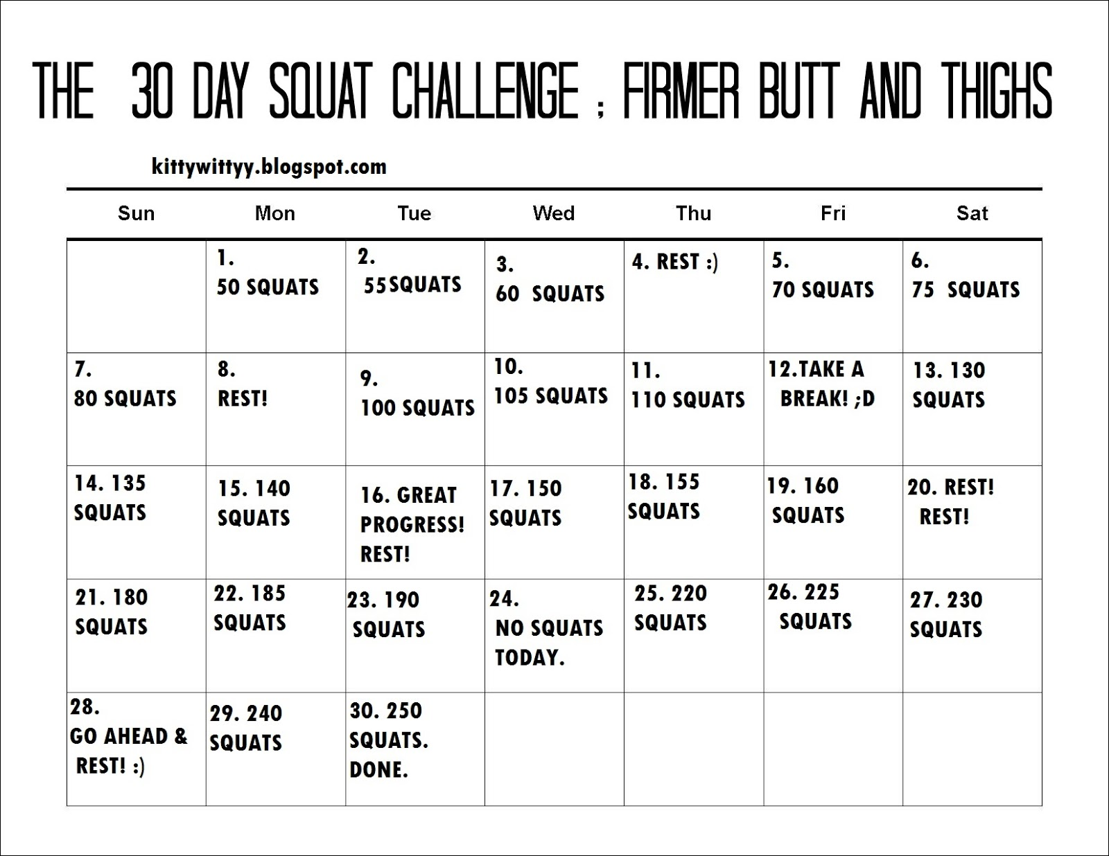 Search Results For 30 Day Ab Challenge Printable