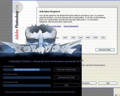 keygen and pc troubleshooting: Adobe Photoshop CS2