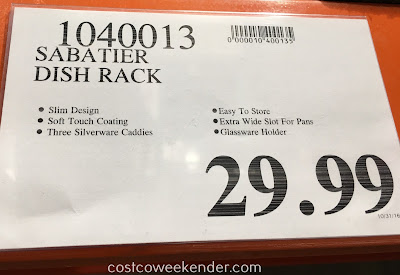 Deal for the Sabatier Premium Dish Rack with Soft Touch Wires at Costco