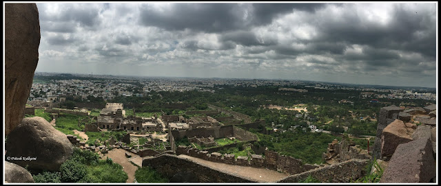 View from Golkonda fort