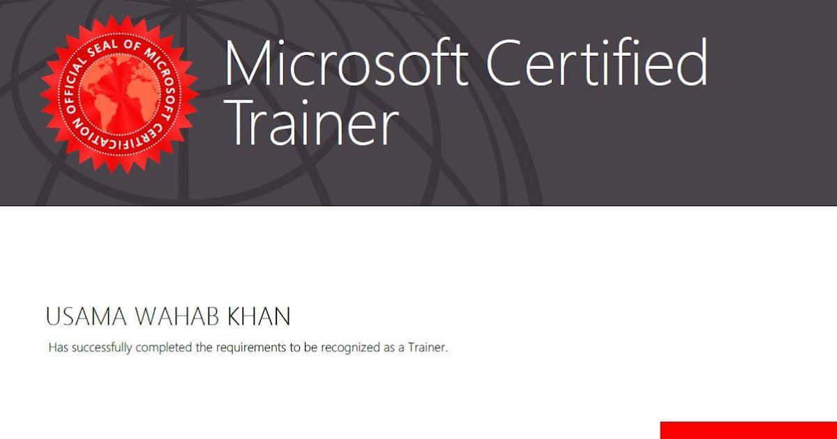 how to become a microsoft certified trainer
