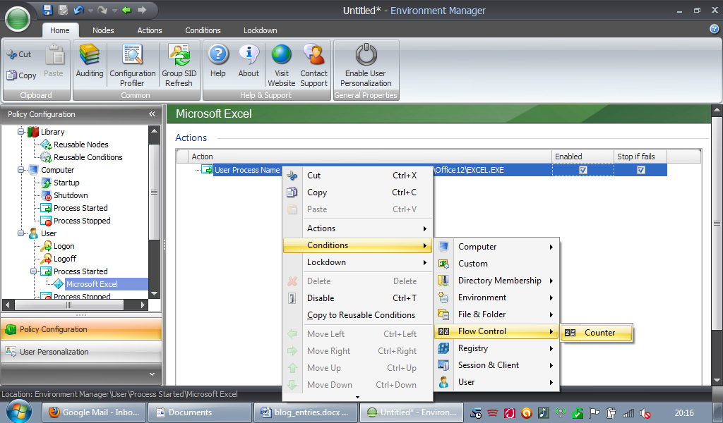 Flow Control in AppSense Environment Manager - HTG | Howell