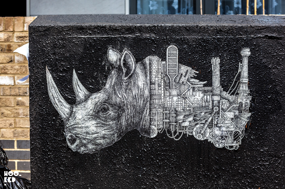 French street artist Ardif's Ornate Mechanimals in London. Photo ©Hookedblog / Mark Rigney