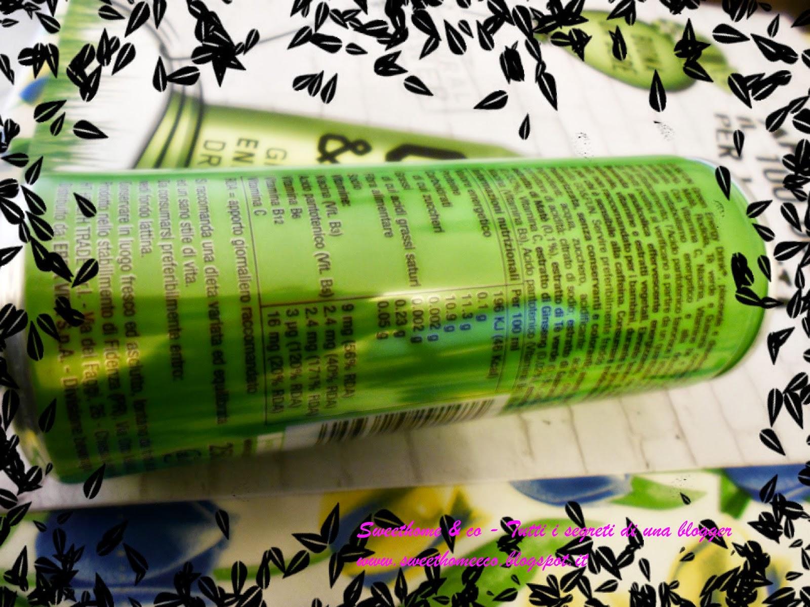 9d3c763ba8 GO & FUN GREEN ENERGY DRINK NATURAL POWER BY ERBA VITA - Recensione ...