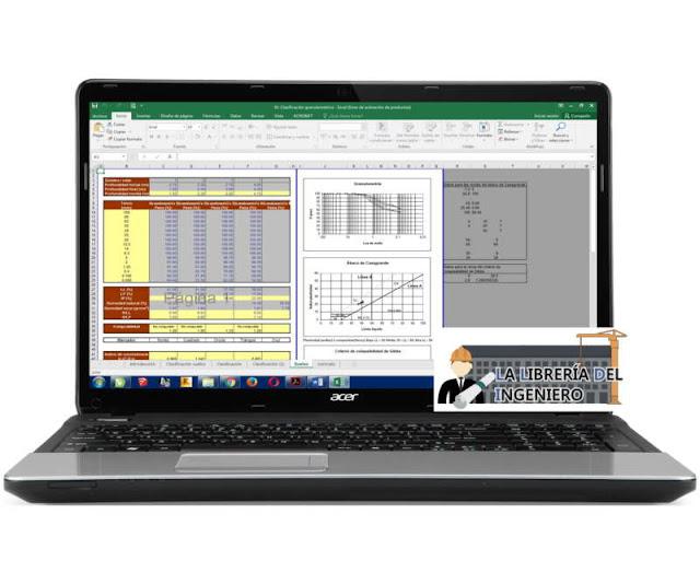 Plantilla Clasificación Granulométrica - Excel