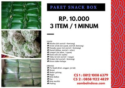 harga snack box daerah Bintaro Tangerang Selatan