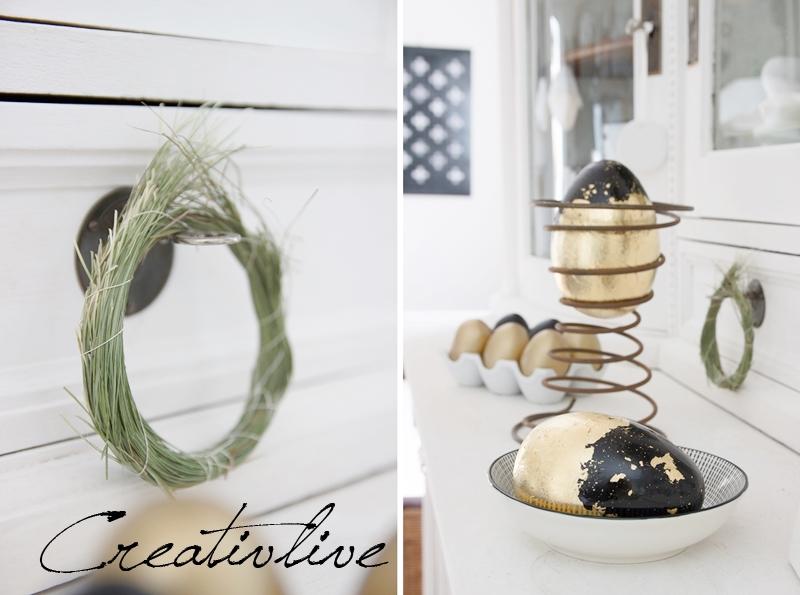 osterdeko schwarz gold creativlive. Black Bedroom Furniture Sets. Home Design Ideas